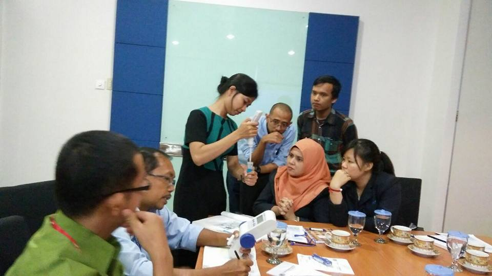 liquid handling workshop organized by PT. Riau Andalan Pulp and Paper