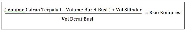 rumus cara menghitung kompresi buret
